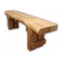 Záhradná lavička z dubu