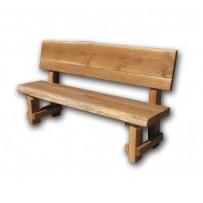 Záhradná lavica z dubového dreva
